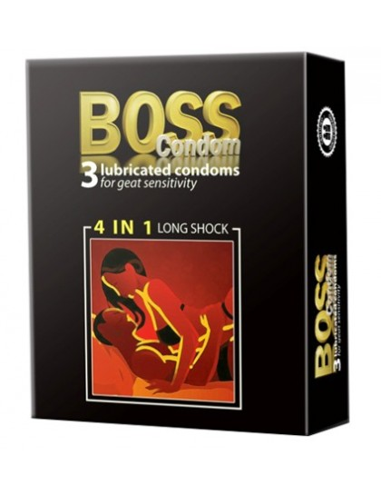 Bao Cao Su Boss 4in1 - Gai, Gân, Kéo Dài Thời Gian Quan Hệ  Hộp 3cái)